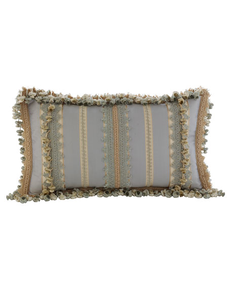 "Crystal Palace Striped Pillow, 12"" x 21"""