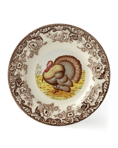 Woodland Turkey Dinner Plates, Set of 4