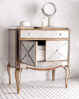 """Claudia"" Mirrored Chest"