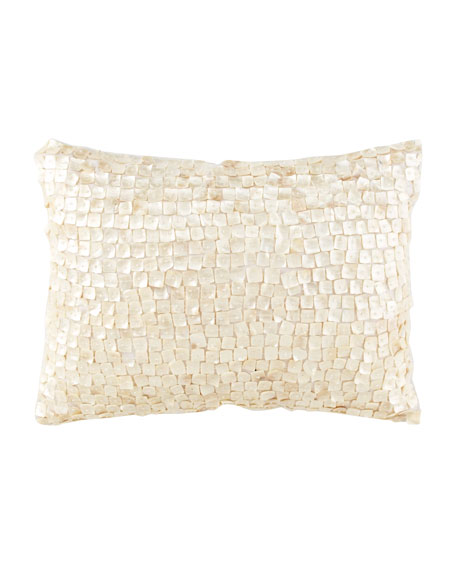 "16""SQ MOTHER OF PEARL PILLOW"