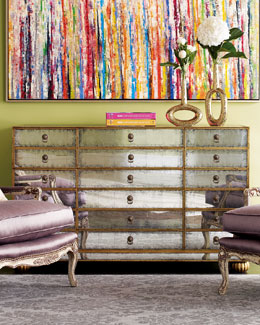 "John-Richard Collection ""Orleans"" Mirrored Chest"