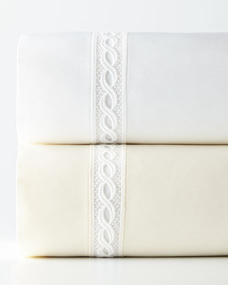 SFERRA Two King 1,020 Thread Count Lace Sateen