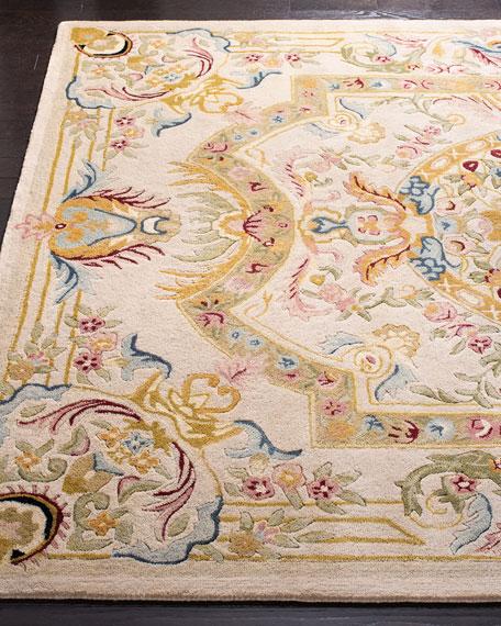 Feather Medallion Rug, 4' x 6'