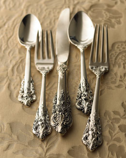 "Godinger 92-Piece ""20th-Century Baroque"" Silver-Plated Flatware"