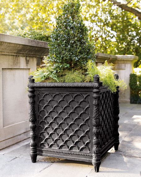 tall environmental planter ella novelty square eplanters black