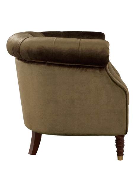 Olive Velvet Tub Chair
