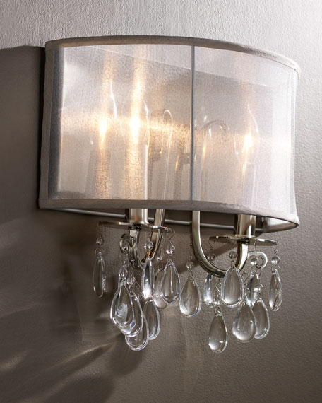 Crystorama Shaded Chandelier Sconce