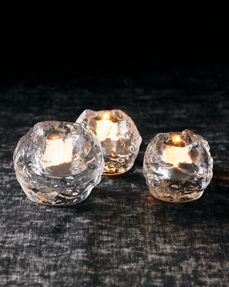 Three Kosta Boda Quot Snowball Quot Votives