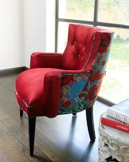 "Haute House ""Lipstick Rose"" Chair"