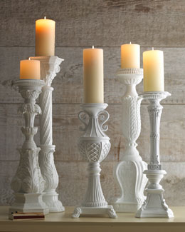 White Candleholders
