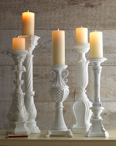 White Candleholders