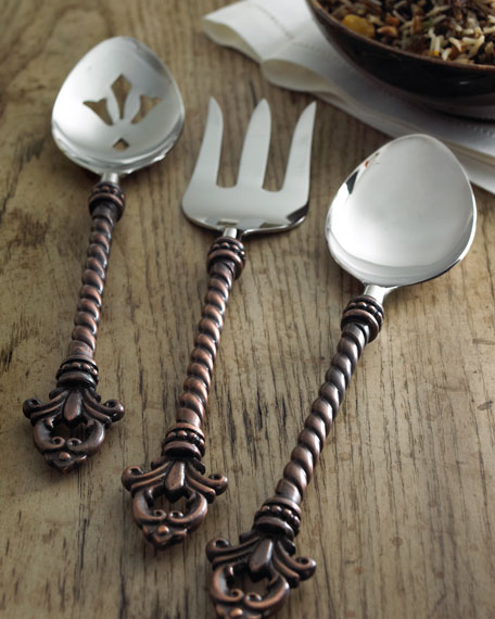 G G Collection Three-Piece Fleur-de-Lis Hostess Set
