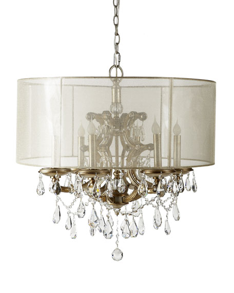 6-Light Veiled Shade Chandelier