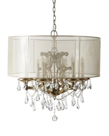 John richard collection 6 light veiled shade chandelier 6 light veiled shade chandelier mozeypictures Gallery