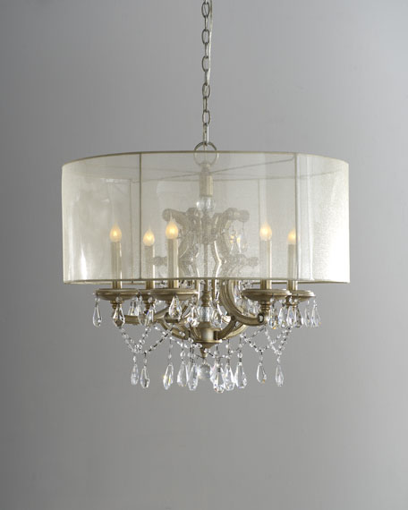 John richard collection 6 light veiled shade chandelier mozeypictures Gallery