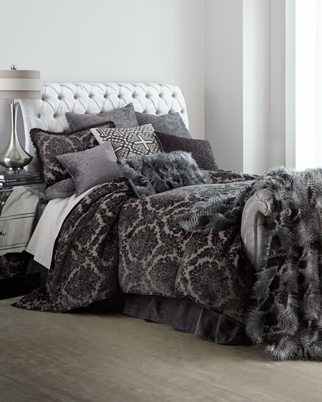 Champagne Tufted King Bed
