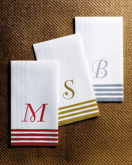 Paper Guest Towels Bathroom: Caspari 100 Personalized Guest Towels/Buffet Napkins