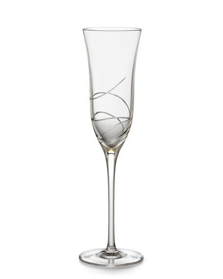 """Ribbon"" Champagne Flute"