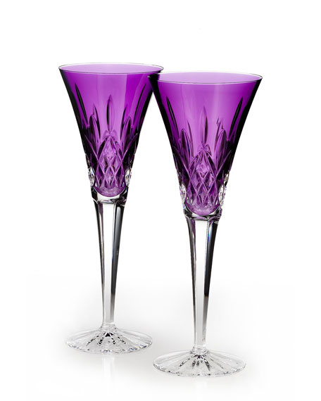 Lismore Jewels Amethyst Toasting Flutes, Set of 2