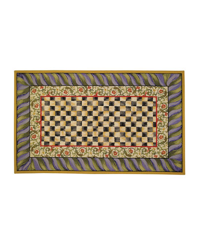 Courtly Check Rug  5' x 8'