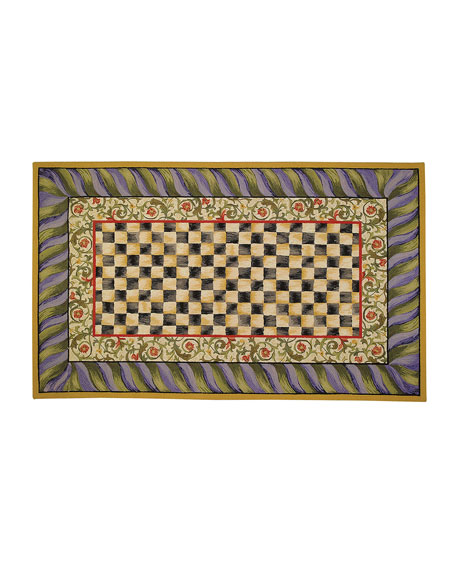 MacKenzie-Childs Courtly Check Rug, 5' x 8'