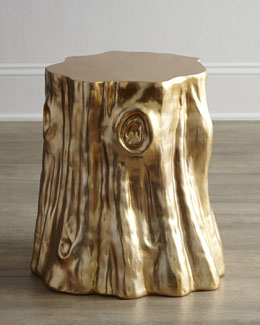 "Arteriors Golden ""Cut Stump"" Table"