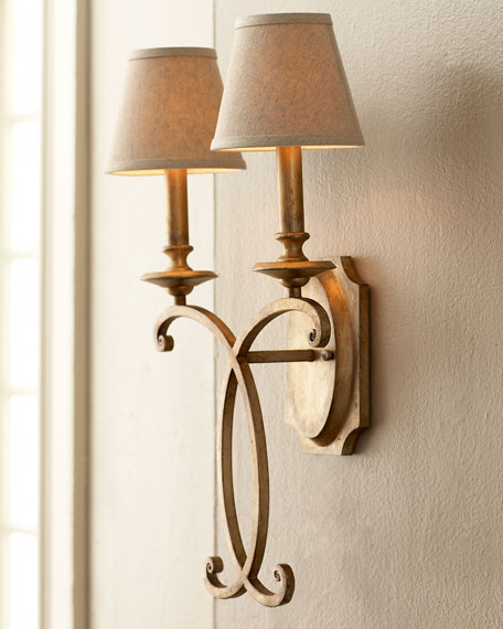 JohnRichard Collection Rustic Bronze Sconce