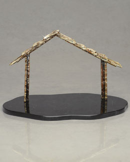 Jay Strongwater Nativity Creche & Marble Base