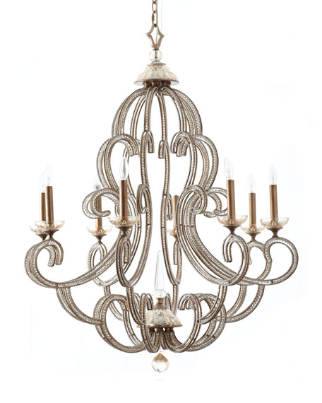 John richard collection beaded elegance 8 light chandelier beaded elegance 8 light chandelier mozeypictures Image collections