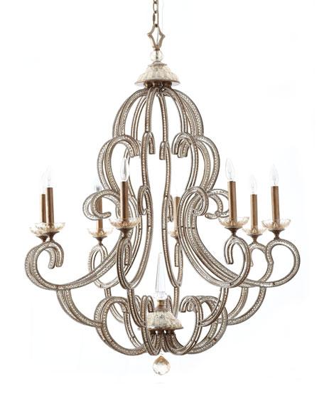 John richard collection beaded elegance chandeliers beaded elegance 8 light chandelier mozeypictures Gallery