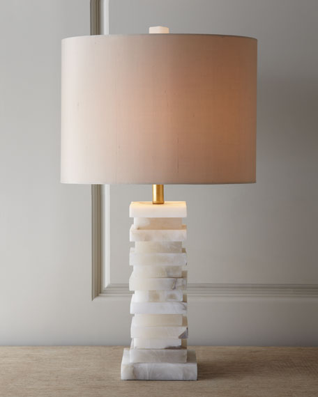 John Richard Collection Stacked Alabaster Lamp