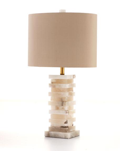 Stacked Alabaster Lamp