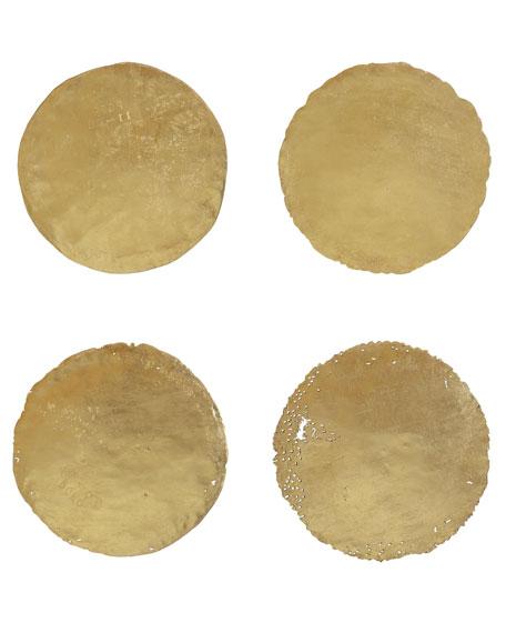 Four Oil Drum Lid Art Pieces