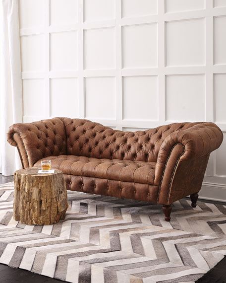 Oak Leather Recamier Sofa 90 25 Quot