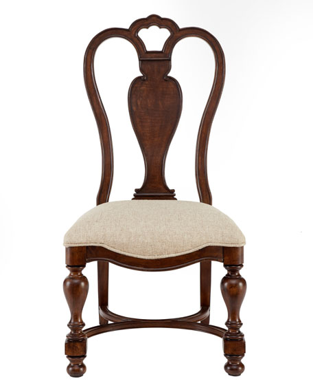 Two Agatha Wood Side Chairs