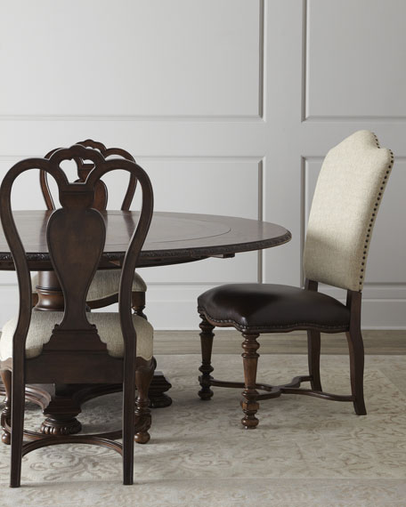 Two Agatha Wood Side Chairs