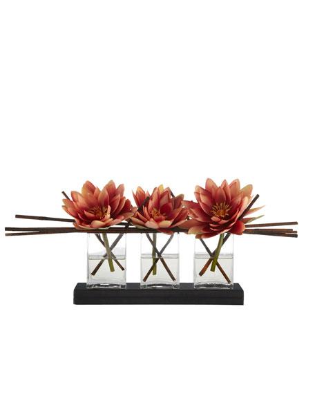 Triple Lotus Faux Floral