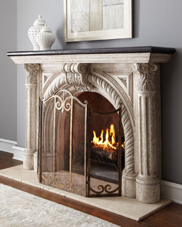 Rope-Edge Fireplace Mantel