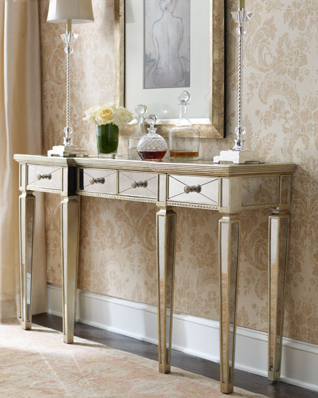 mirrored sideboard table amelie mirrored console 4166