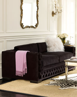 "Haute House ""Bently"" Black Tufted Sofa"