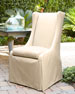 Alexandra Outdoor Urn Pedestal Table & Upholstered Chair