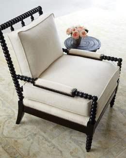 "NM EXCLUSIVE ""Ellsworth"" Neutral Spindle-Back Chair"