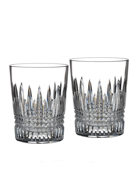 "Two ""Lismore Diamond"" Tumblers"
