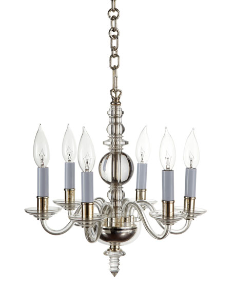 George II Mini Six-Light Polished-Silver Chandelier