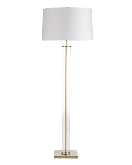 """Norman"" Glass Floor Lamp"