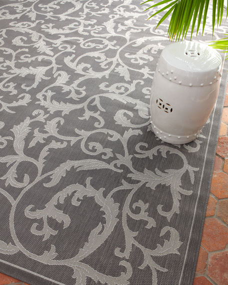 "Trellis Work Indoor/Outdoor Rug, 6'7"" x 9'6"""