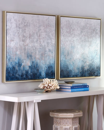 Frost on Sapphire Original Paintings  2-Piece Set