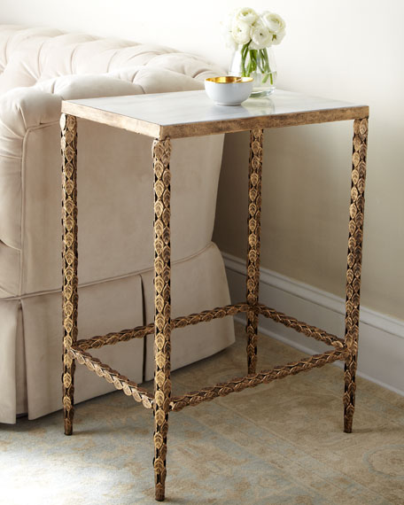 208bc42a193e74 Marble-Top Side Table