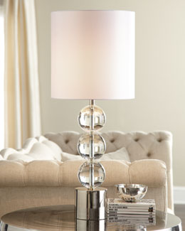 "Regina-Andrew Design ""Triple Crystal Orb"" Lamp"