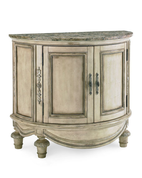 Clairee Marble-Top Demilune Table